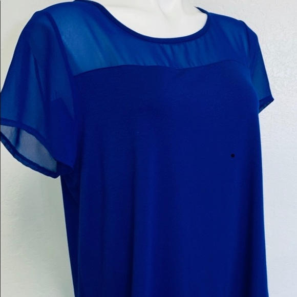 Vince Camuto Tops - Vince Camuto sheer top L Royal Blue
